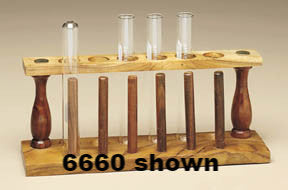 Test Tube Support (12 tubes) Wooden w/ Drying Rack - The Science Shop