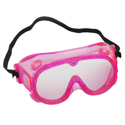 "Secondary Splash Goggles - 6"" Fluorescent Pink - The Science Shop"