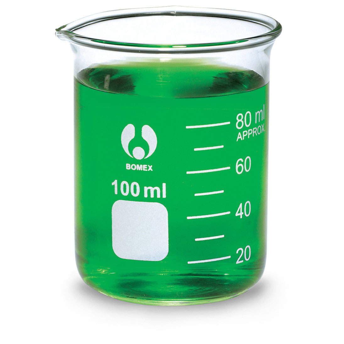 Bomex Griffin Low Form Beaker, Graduated ~ 100mL - The Science Shop - 1