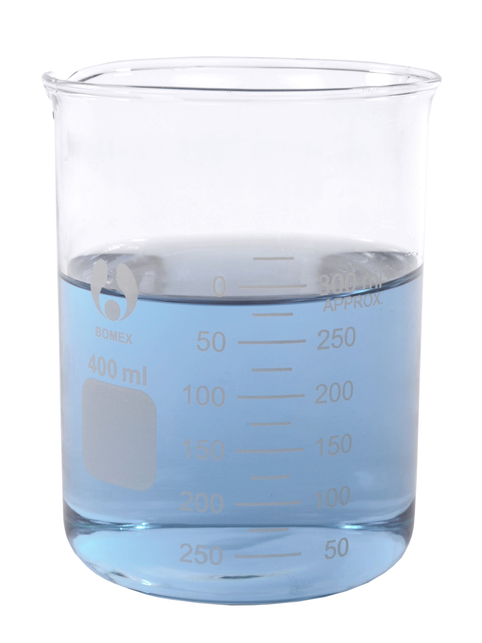 Bomex Griffin Low Form Beaker, Graduated ~ 400mL - The Science Shop