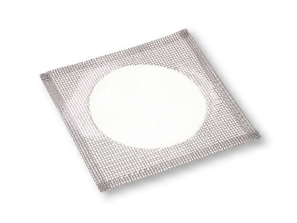"Wire Gauze Square 4"" x 4"" with Ceramic Circle - The Science Shop"