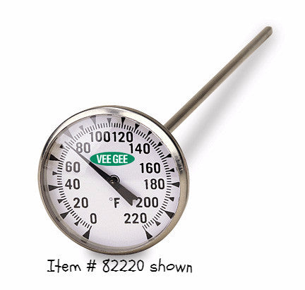 "Thermometer, 1.75"" Dial ~  25 to 125°F - The Science Shop"