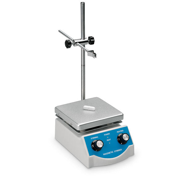 "Magnetic Stirrer with Heater - 5"" x 5"" - The Science Shop"