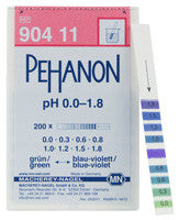 PEHANON® 0.0 - 1.8 pH Test Strips 100/pk - The Science Shop