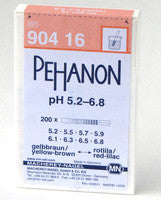 PEHANON® 5.2 - 6.8 pH Test Strips 100/pk - The Science Shop