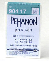 PEHANON® 6.0 - 8.1 pH Test Strips 100/pk - The Science Shop