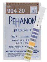 PEHANON® 8.0 - 9.7 pH Test Strips 100/pk - The Science Shop