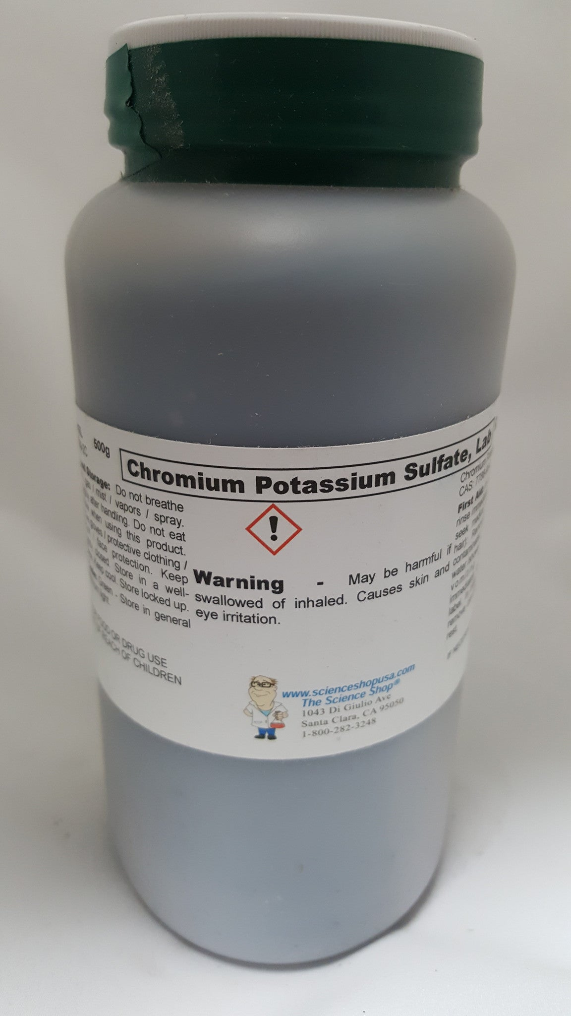 Chromium Potassium Sulfate 500g Lab Grade (Chrome Alum) - The Science Shop
