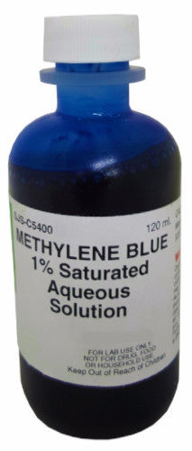 Methylene Blue Saturated Aqueous Solution 1% 120ML - The Science Shop