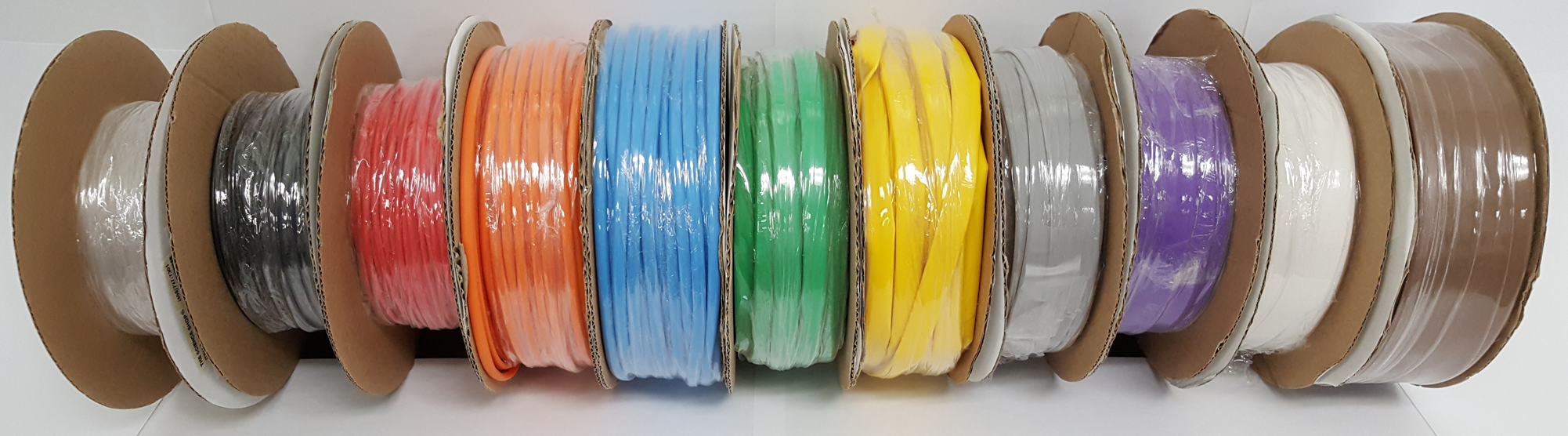 "1"" Yellow Heat Shrink Tubing 25' Mini-Spool 2:1 Shrink Ratio"
