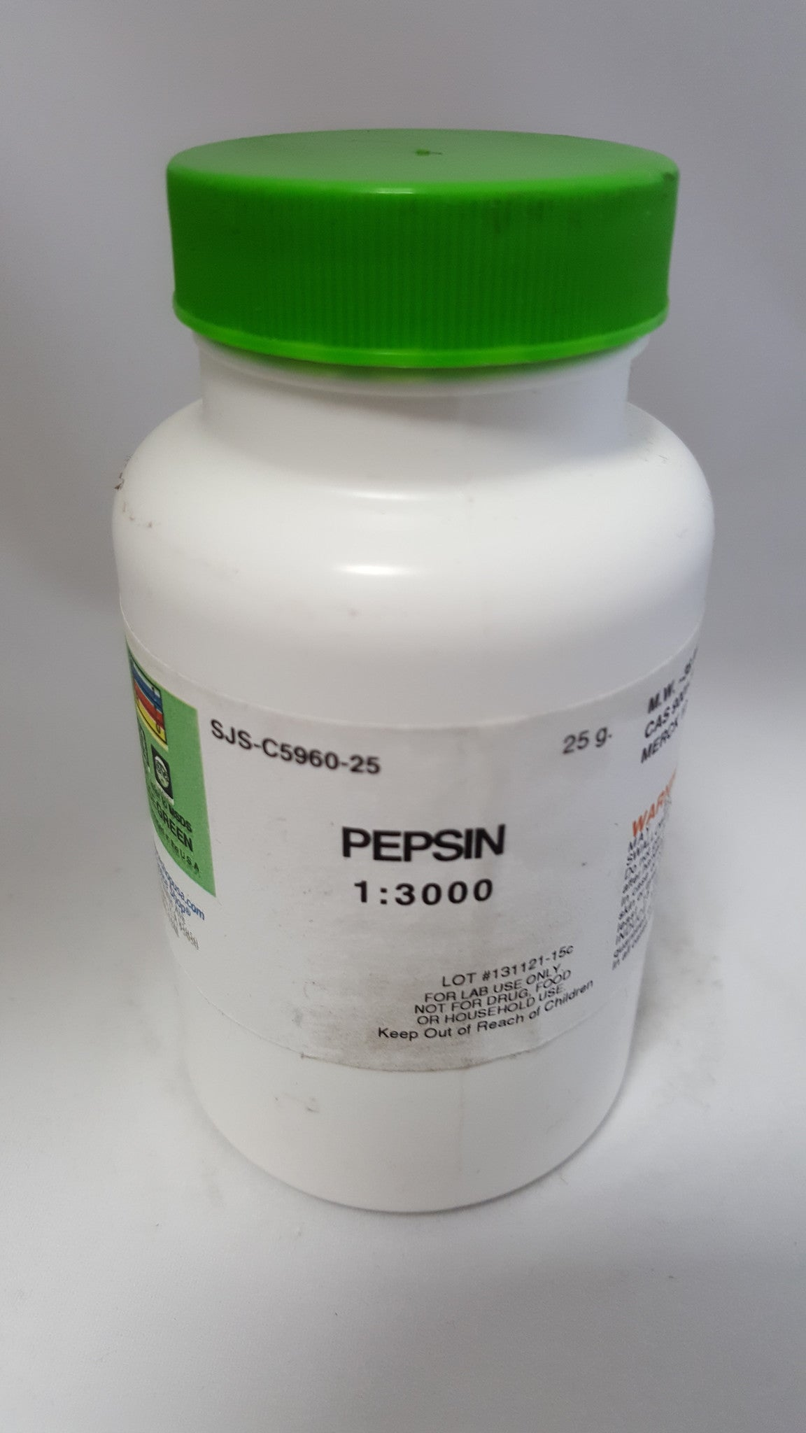 PEPSIN 1:3000 25G - The Science Shop