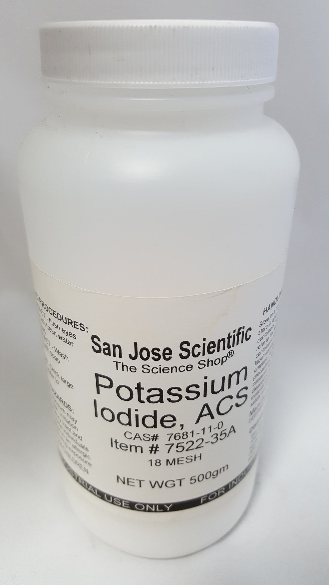 Potassium Iodide Lab Grade 500g - The Science Shop