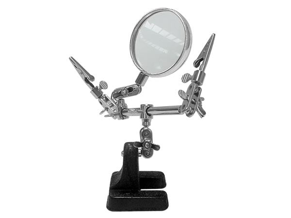 Helping hand with magnifier ~ 2.5x - The Science Shop