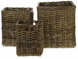 Set of 3 Willow Square Basket Collection