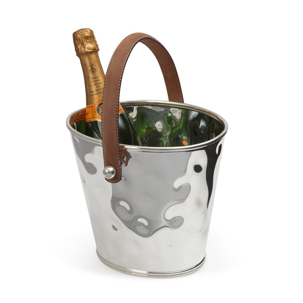 Barware Essential - Leather Handled Wine Cooler
