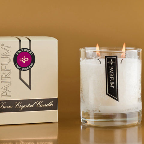 Snow Crystal Candle | Black Orchid