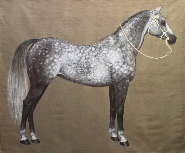 Beautiful Dappled Grey Horse on large wall hanging