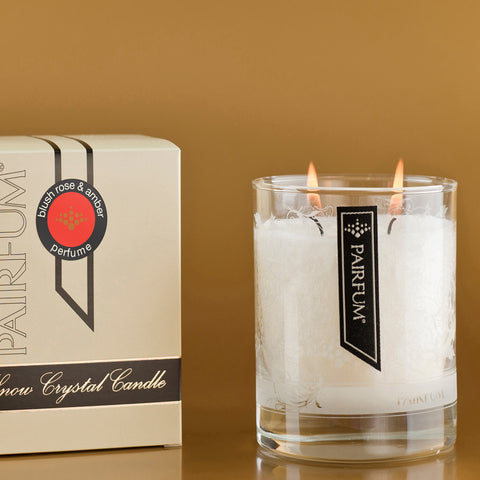 Snow Crystal Candle | Blush Rose and Amber