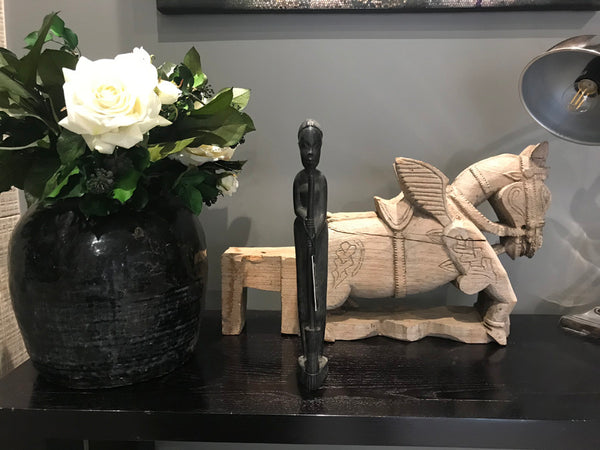 Ebony Wood Tribal Art Statue