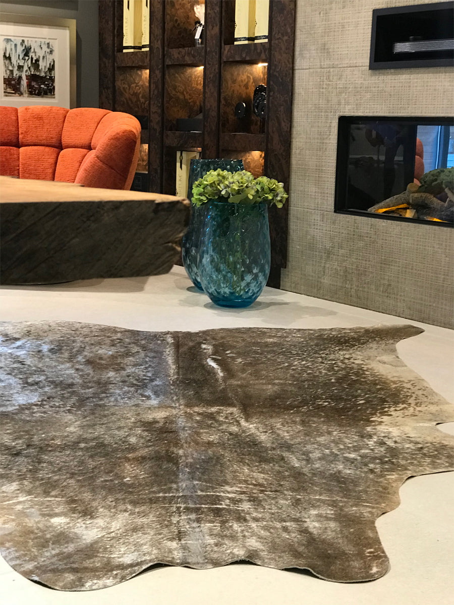 Metallic Cowhide Natural/Silver Rug