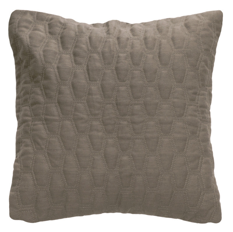 Luxury feather padded cushion - New Day Taupe 1