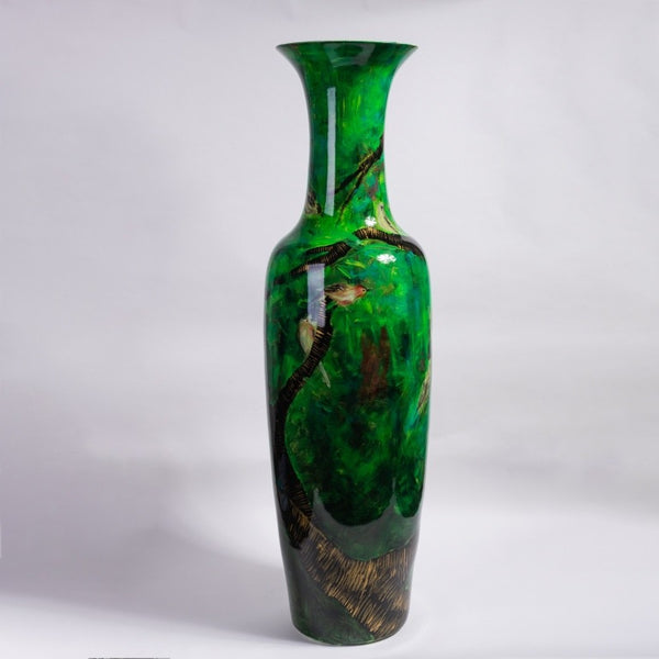 Tall Porcelain Hand Painted Vase