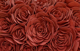 Feather Padded Luxury Cushion - Roses