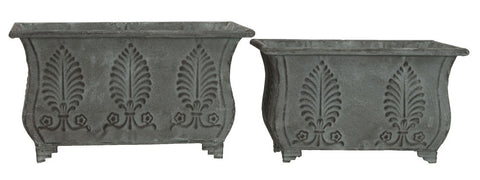 Set of Two Antique Garden Troughs on Feet