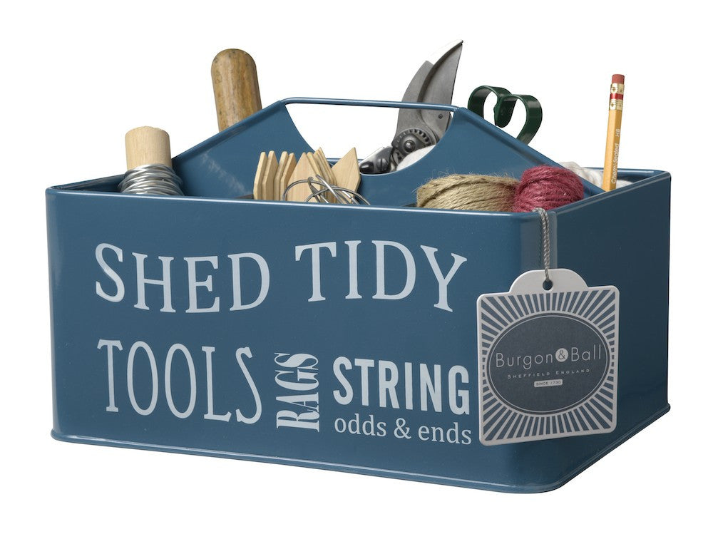 Garden Shed Tidy Tin - Blue