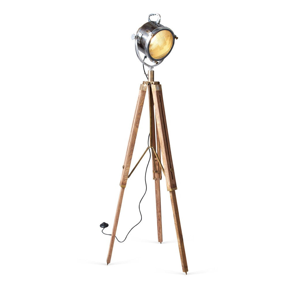 Spotlight with Wooden Tripod