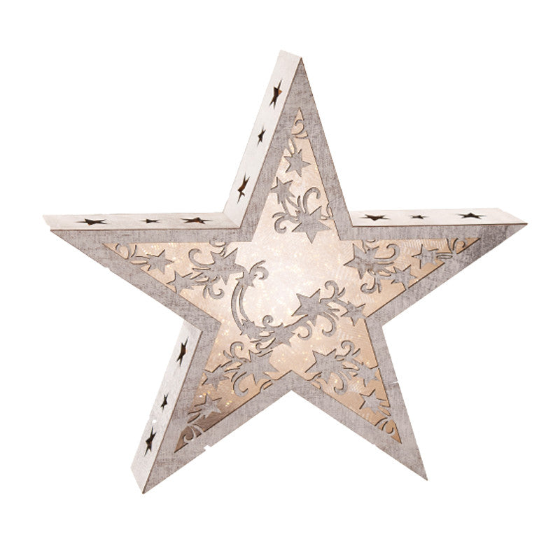 LED Wooden Star Decoration