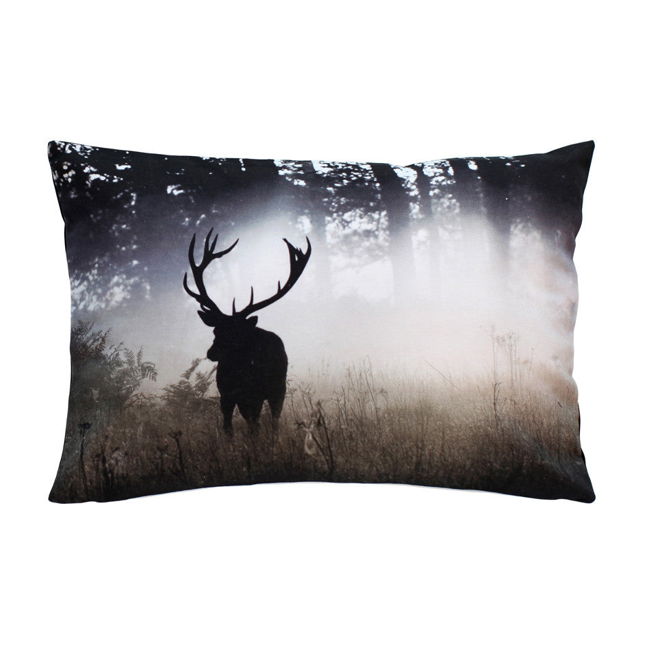 Forest Stag Feather Padded Cushion