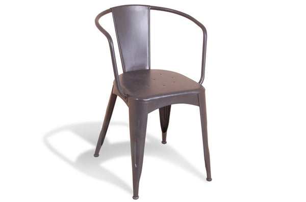 Industrial Curved Chair - Grey