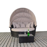 Large Luxury Rattan Daybed