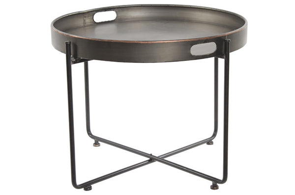 Large Round Metal Side Table