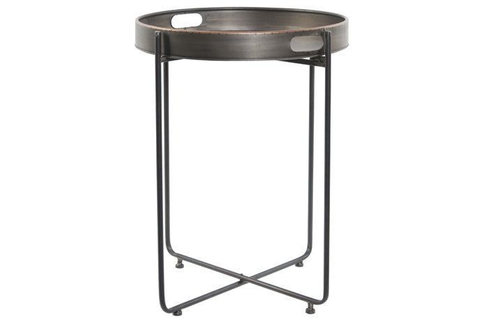 Medium Round Metal Side Table