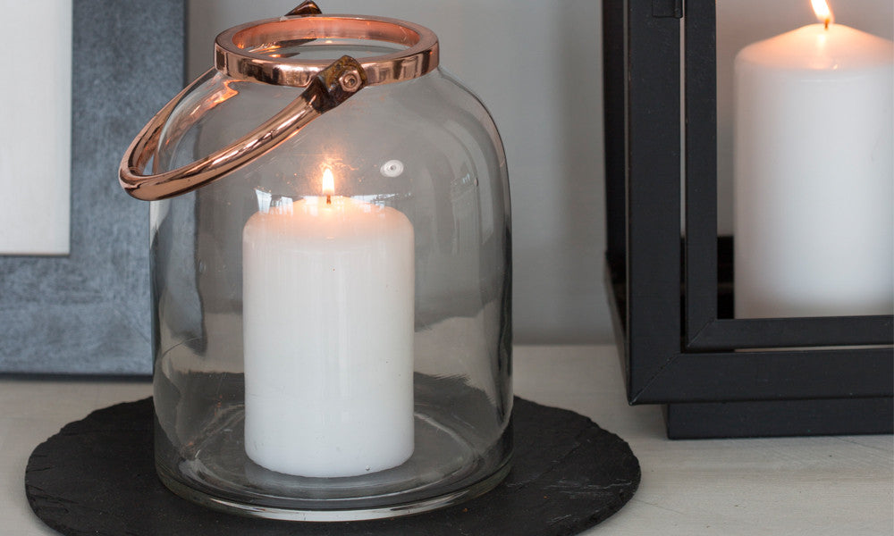 Large Copper Candle Holder