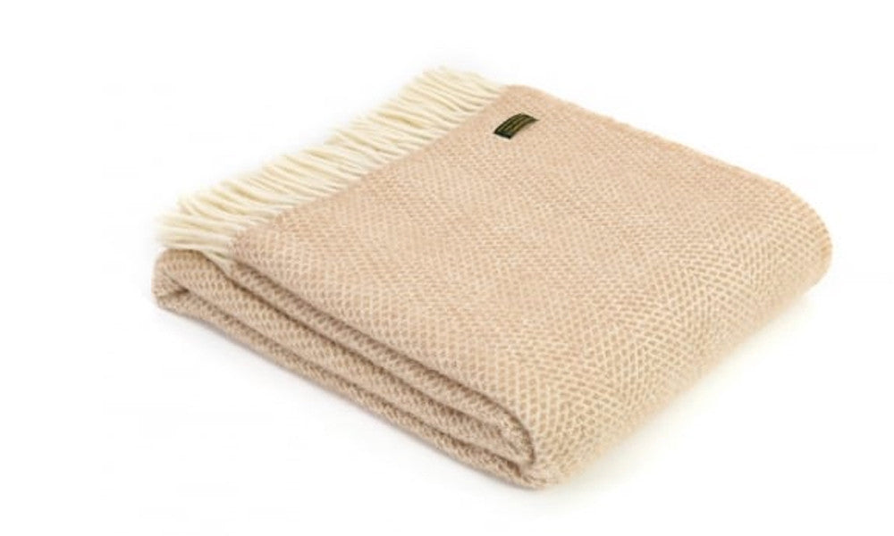 Pure New Wool Beehive Beige Throw