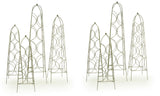 Set of 4 Metal Obelisks