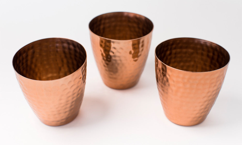 Set of 3 Copper Votives