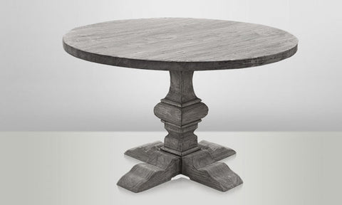 Round Dining Table With Column Leg