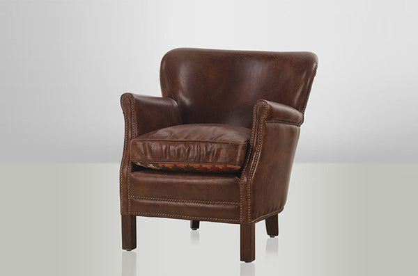 Cigar Vintage Leather Armchair