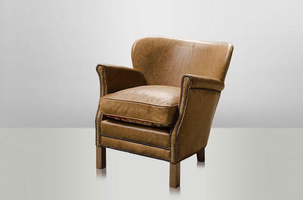 Soft Brown Vintage Leather Armchair
