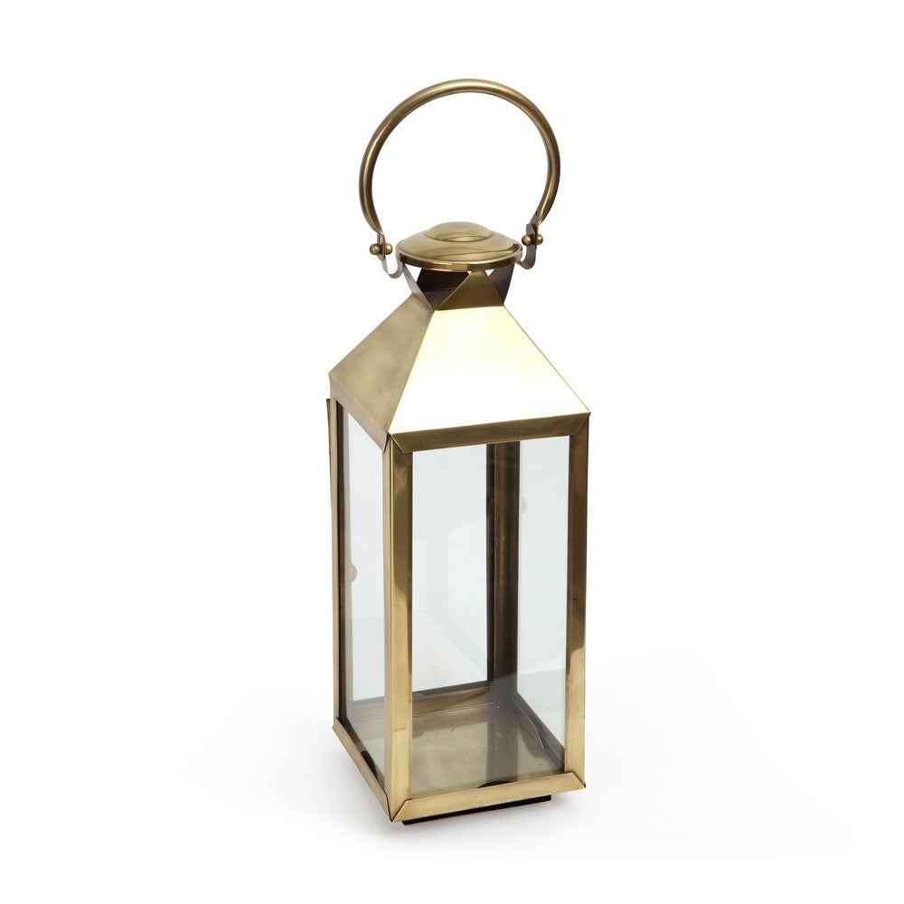 Small Tall Antique Brass Venetian Lantern