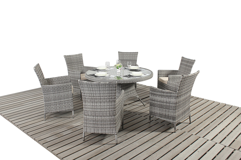 Luxury Round Dining Table For 6 people