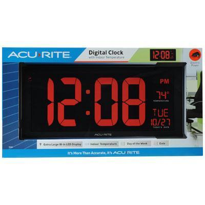 "Acurite Digital 18"" Wall Clock-Lifestyle-Chaney Instruments-ILife Store"