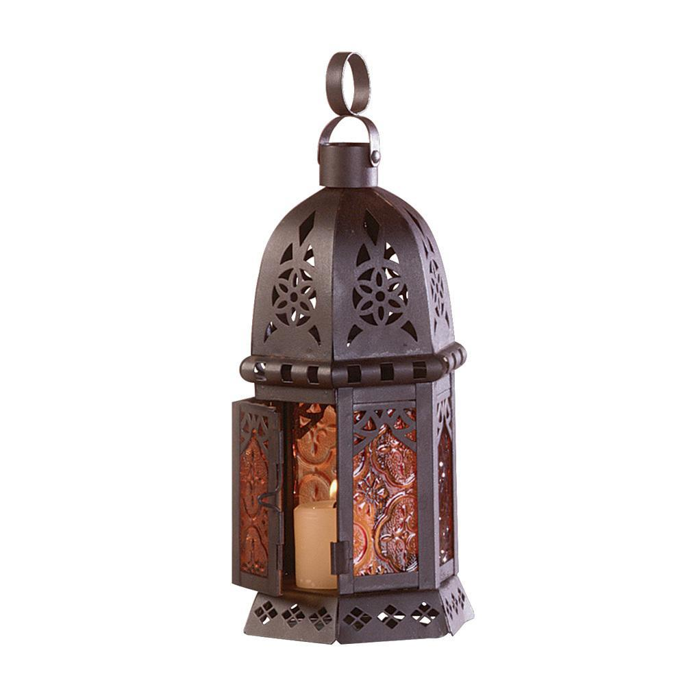Amber Glass Moroccan Lantern 10033145-Home & Garden-Gallery of Light-ILife Store