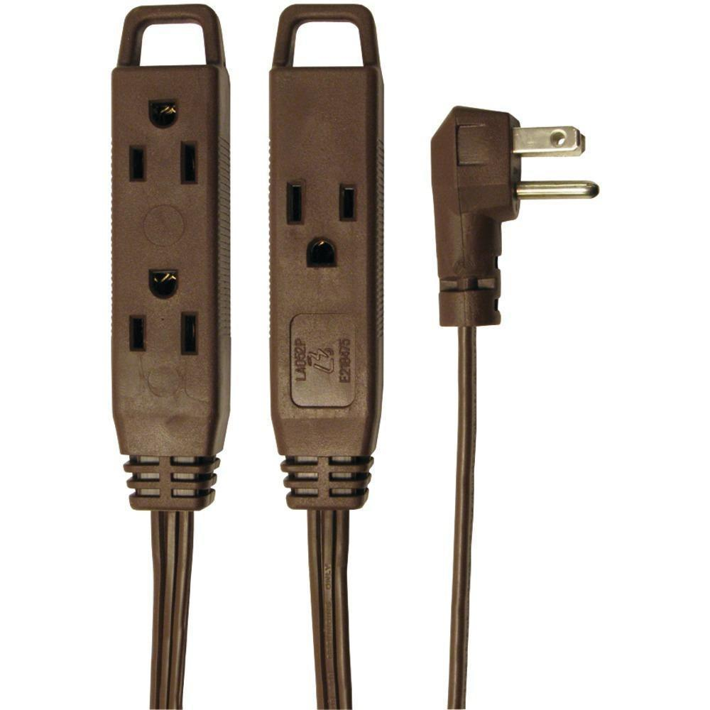 Axis(TM) 45504 3-Outlet Indoor Extension Cord, 8ft (Brown)-Home & Garden-AXIS(TM)-ILife Store