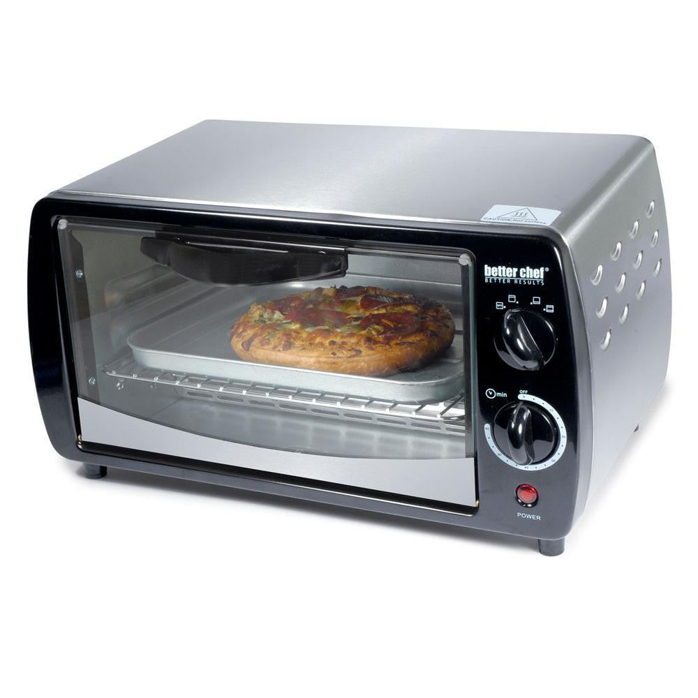 Better Chef Large Capacity 9-liter Toaster Oven- Silver-Home & Garden-BETTER CHEF-ILife Store