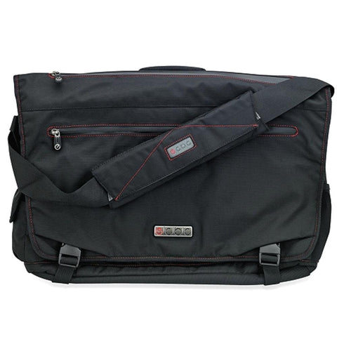 ECBC Trident Messenger Bag w-Adjustable Shoulder Strap (Black) - Fits Up To 14 Notebooks